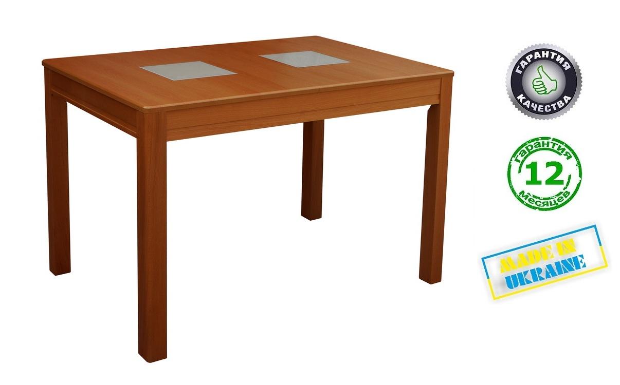 Стіл розкладний Мелітопольмеблі БЕРЛІН С, стільниця МДФ, ноги бук, 1150(1550)*750, колір