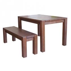 Лавка Амберг Люкс / Amberg Lux дерев'яна без спинки (Грамма ТМ), Дуб, 7 кольорів