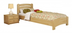 Дерев'яне ліжко ВЕНЕЦІЯ ЛЮКС ТМ Естелла, матеріал бук, основа ламелі, 8 кольорів
