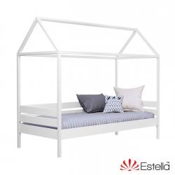 Двоярусне дитяче ліжко АММІ ТМ Естелла, матеріал бук, основа ламелі, ящики для білизни, 8 кольорів 80Х190 ЩИТ