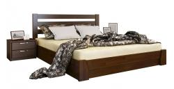 Дерев'яне ліжко Селена ТМ Естелла з підйомним механізмом, матеріал бук, основа ламелі, 8 кольорів
