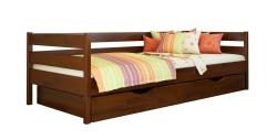 Дерев'яне ліжко НОТА ТМ Естелла, дитяче односпальне, матеріал бук, основа ламелі, ящики для білизни, 8 кольорів
