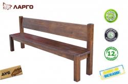 Лавка Ларго / Largo дерев'яна зі спинкою (Грамма ТМ), Дуб, 9 кольорів