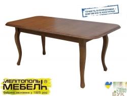Стіл НЕАПОЛЬ (розкладний) обідній, дерев'яний (Мелітопольмеблі ТМ), бук, 7 кольорів