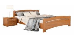 Дерев'яне ліжко ВЕНЕЦІЯ ТМ Естелла, матеріал бук, основа ламелі, 8 кольорів