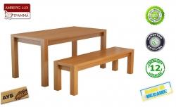 Стіл Амберг Люкс / Amberg Lux дерев'яний обідній кухонний (Грамма ТМ), Дуб,…