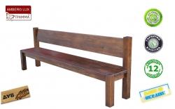 Лавка Амберг Люкс / Amberg Lux дерев'яна зі спинкою Грамма ТМ, Дуб,…