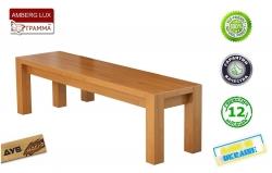 Лавка Амберг Люкс / Amberg Lux дерев'яна без спинки (Грамма ТМ), Дуб,…